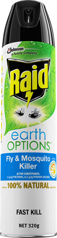 RAID EARTH OPTIONS FLY & MOSQUITO KILLER