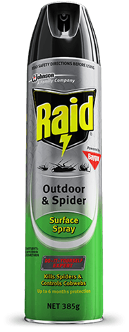 RAID OUTDOOR & SPIDER SURFACE SPRAY
